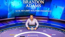 ბრენდონ ადამსის $400.000 დოლარიანი გამარჯვება Poker Masters-ის $25.000-იან ტურნირზე
