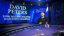Poker Masters-ის მეინ ივენთი დევიდ პიტერსმა მოიგო